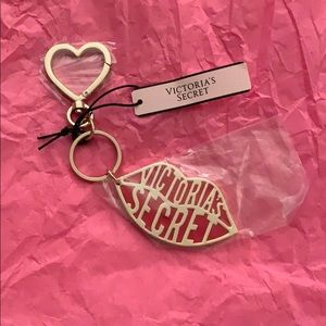 Victoria's Secret Gilded Red Lip Keychain / Charm